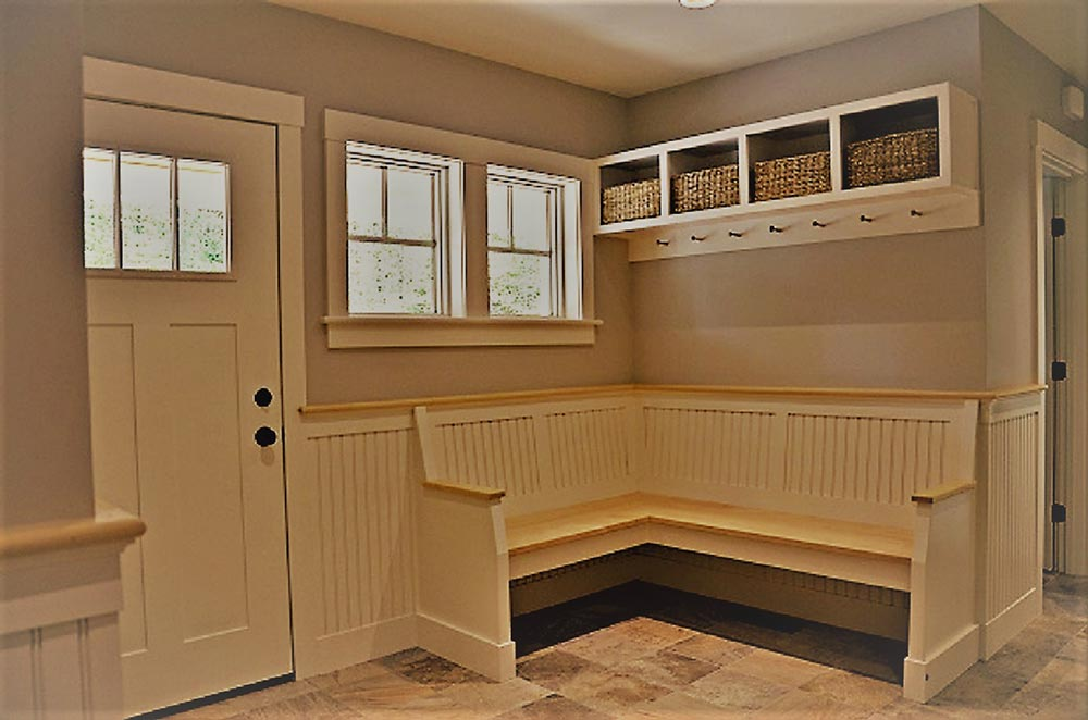 Handsome Mudroom Bench