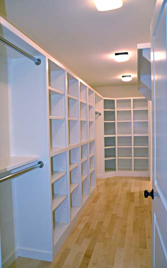 Greg Fitzpatrick Inc - Custom Home Builder - Master Closet