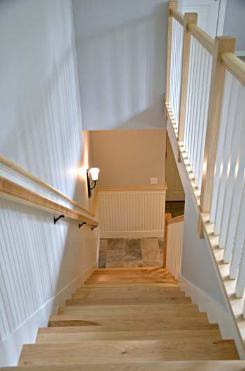 Greg Fitzpatrick Inc - Custom Home Builder - Maple Stairway 2