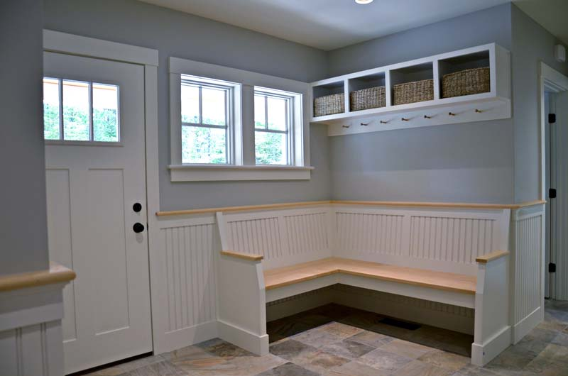 Greg Fitzpatrick Inc - Custom Home Builder - Handsome Mudroom Bench