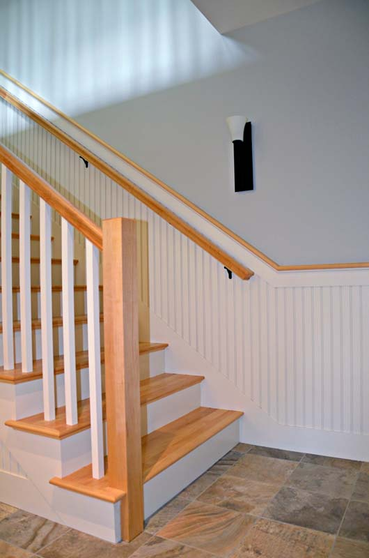 Greg Fitzpatrick Inc - Custom Home Builder - Maple Stairway