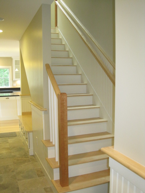 Maple Staircase with Cherry Newall Post