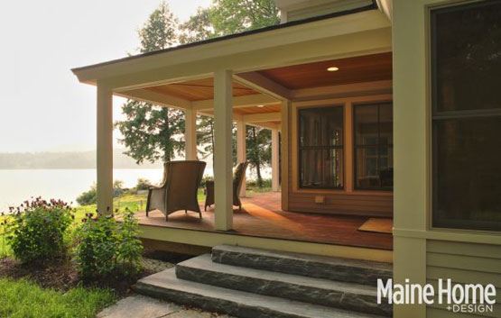 Greg Fitzpatrick Inc - Custom Home Builder - Lakeside Porch