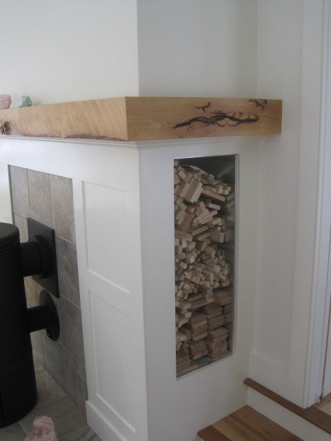 Clever wood storage
