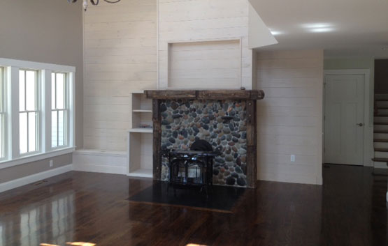 Greg Fitzpatrick Inc - Custom Home Builder - Natural Stone Hearth